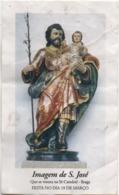 Santino Portoghese Di San Giuseppe Imagen De S. José Que Se Venera Na Sé Catedral Braga - Santini