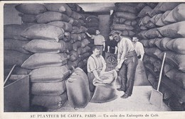 PUB . AU PLANTEUR DE CAIFFA  Paris . Un Coin Des Entrepots De Café - Marchands