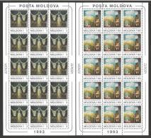 Moldova, Moldawien, Moldavia 1993 Europa CEPT Michel 94-95 MNH Sheetlet - Moldova