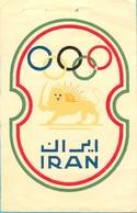 Iran. The Olympic Team Label. 13,5X8,5 Cm. - Olympics