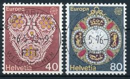 576-577 / 1073-1074 Mit Vollstempel ZÜRICH 22 WERTZEICHEN 06.05.1976 - Schweiz