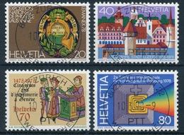 603-606 / 1116-1119 Mit Vollstempel ZÜRICH 22 WERTZEICHEN 10.03.1978 - Schweiz