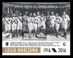 Poland 2016 Mih. 4829 (Bl.248) Football Club Legia Warsaw MNH ** - 1944-.... Republik