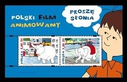 Poland 2018 Mih. 4991/92 (Bl.273) Animated Cartoon Please Elephant MNH ** - 1944-.... Republic