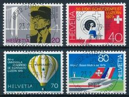 622-625 / 1150-1153 Mit Vollstempel ZÜRICH 22 WERTZEICHEN 23.02.1979 - Schweiz