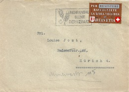 Brief  Zürich  (Flagge: Mehranbau Dient Der Heimat)         1942 - Briefe U. Dokumente