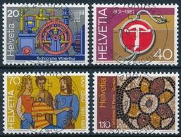 656-659 / 1206-1209 Mit Vollstempel ZÜRICH 22 WERTZEICHEN 07.09.1981 - Schweiz