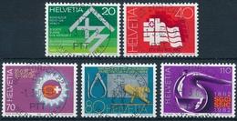663-667 / 1216-1220 Mit Vollstempel ZÜRICH 22 WERTZEICHEN 01.03.1982 - Schweiz