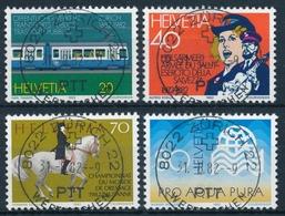 672-675 / 1232-1235 Mit Vollstempel ZÜRICH 22 WERTZEICHEN 31.08.1982 - Schweiz