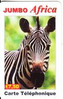 FRANCE - Zebra, Jumbo Africa, IDT Prepaid Card 7.5 Euro, Exp.date 07/07, Used - Frankreich