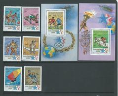 Libya 1984 Los Angeles Olympic Games Set Of 6 & Two Miniature Sheets MNH - Libië