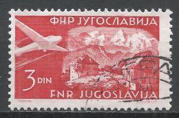 Yugoslavia 1951. Scott #C36 (U) Carniola * - Poste Aérienne