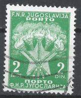 Yugoslavia 1951. Scott #J68 (U) Torches And Star * - Timbres-taxe