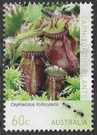 Australia 2013 Carnivorous Plants 60c Type 1 Sheet Stamp Good/fine Used [38/31158/ND] - 2010-... Elizabeth II