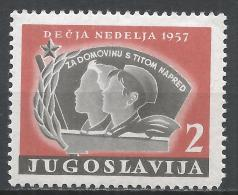 Yugoslavia 1957. Scott #RA18 (MNH) Girl And Boy Pioneers * - Bienfaisance