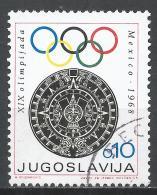 Yugoslavia 1968. Scott #RA34 (U) Aztec Calendar Stone And Olympic Rings * - Bienfaisance