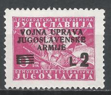 Yugoslavia (Istria) 1947. Scott #42 (M) Overprinted * - 1945-1992 République Fédérative Populaire De Yougoslavie