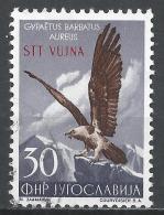 Yugoslavia (Trieste) 1954. Scott #99 (U) Lammergeier, Eagle, Overprinted STT VUJNA * - Gebruikt