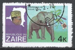 Zaire 1979. Scott #904 (U) Pres. Mobutu, Map Of Zaire, Elephant * - Zaïre