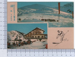 Artesina ~ Frabosa Sottana ~ Condominio Marguareis E Campi Da Sci ~ Neve ~ Montagna ~ 1980 ~ Litografia G.& G. Del Cielo - Italia