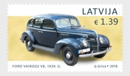 H01 Latvia 2018 History Of Automobiles Ford Vairogs V8 MNH Postfrisch - Lettland