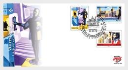 H01 Malta 2018 Valletta Capital Of Culture FDC MNH Postfrisch - Malta (Orden Von)
