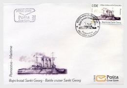 H01 Montenegro 2018 Battle Cruiser Sankt Georg FDC MNH Postfrisch - Montenegro