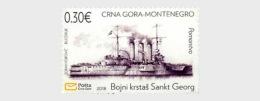 H01 Montenegro 2018 Battle Cruiser Sankt Georg MNH Postfrisch - Montenegro