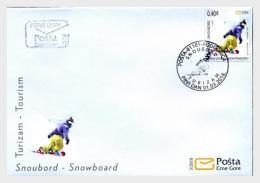 H01 Montenegro 2018 Tourism Snowboard FDC MNH Postfrisch - Montenegro