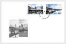 H01 Slovenia 2018 Europa Bridges FDC MNH Postfrisch - Slovénie