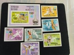 Chad 1972 Olympic Games SC#287B,287D,287F,287G 287I 287L 287N Imperf - Tchad (1960-...)