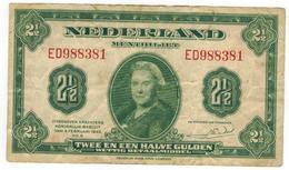 Netherlands 2 1/2 Gulden 1943, F/VF. - 2 1/2 Gulden