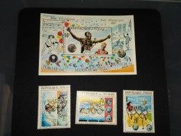 Chad 1972 Olympic Games SC#236B-236D,236F Gold Overprinted - Tchad (1960-...)