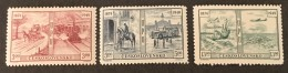 Czechoslovakia   - MH* -  1949 - #  572/574 - Unused Stamps