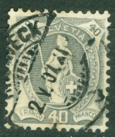 Suisse    Yvert 96  Ou Zum  89 B  Ob  TB - 1882-1906 Stemmi, Helvetia Verticalmente & UPU