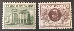 Czechoslovakia   - MH* -  1955 - #  892/893 - Unused Stamps