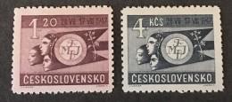Czechoslovakia   - MH* -  1947 - #  518/522 - Unused Stamps