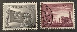 Czechoslovakia   - (o) -  1953 - #  821/822 - Czechoslovakia