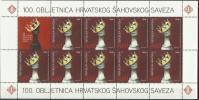 HR 2012-1034 100A°CHESS UNION OF CROATIA, HRVATSKA CROATIA, MS, MNH - Croatie