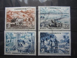 VEND BEAUX TIMBRES DU CAMEROUN N° 300 - 303 , X !!! - Cameroun (1915-1959)
