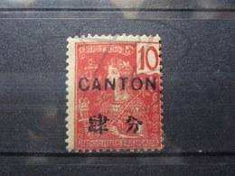 VEND BEAU TIMBRE DE CANTON N° 37 , X !!! - Canton (1901-1922)