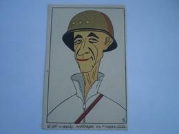 Militair - WW2 // Caricature // Lt.Gen.C.Hodges // NL Card // 19?? - Personen