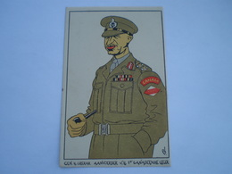 Militair - WW2 // Caricature // Gen.H.Crerar // NL Card // 19?? - Personen