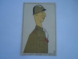 Militair - WW2 // Caricature // Lt.Gen.W.Simpson // NL Card // 19?? - Personen