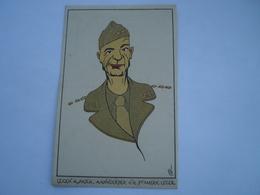 Militair - WW2 // Caricature // Lt.Gen.A.Patch // NL Card // 19?? - Personen