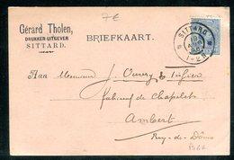 Pays Bas - Carte Commerciale De Sittard Pour La France En 1896 - Periode 1891-1948 (Wilhelmina)