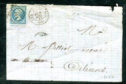 Oblitération AS3 Sur Type Napoléon Sur Grand Fragment En 1863 - Marcophilie (Lettres)