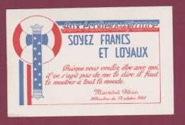 010818A - MILITARIA GUERRE 1939 45 - AUX ECOLIERS DE FRANCE MARECHAL PETAIN Allocution 1941 Soyez Francs Et Loyaux - Weltkrieg 1939-45