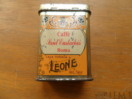 ANCIENNE BOITE METAL / PASTIGLIE LEONE  CAFFE / DIM  7X4,5X3CM - Boîtes/Coffrets