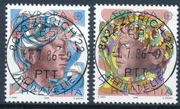 725-726 / 1315-1316 Mit Vollstempel ZÜRICH 22 PHILATELIE 01.07.1986 Hans Erni - Schweiz